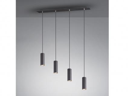 Balkenpendel mit 4 LEDs - Esstischlampe, Wohnraumleuchte, Flurlampe schwarz matt