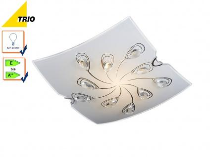Deckenleuchte Deckenlampe FLORIS Glas weiß/klar Glasdeko 28, 5x28, 5 cm