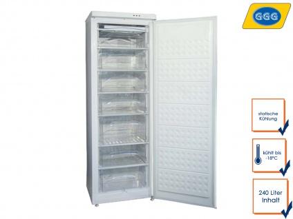 Gastro Gefrierschrank, 240 Liter, bis -18° C, Tiefkühlschrank Profi, GGG