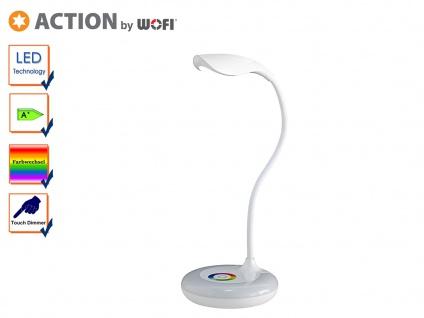 LED Schreibtischleuchte SLIM Flexarm Dimmer RGB-LED USB-Kabel Tischlampe weiß