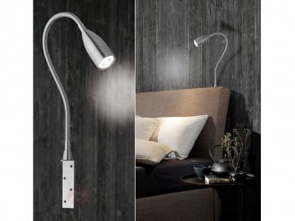 Dimmbare Honsel LED Leseleuchte Bettleuchte mit Sensor Möbellampe Leselampe flex