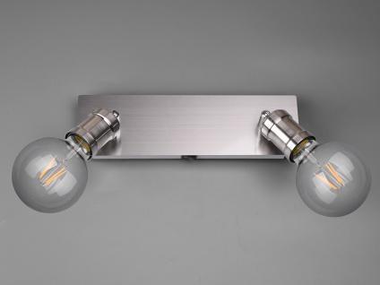 Moderner Wandstrahler für den Innenbereich mit 2 schwenkbaren E27 Spots Silber