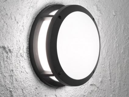 Design Außenwandleuchte mit LED Ø26cm Aluminium schwarz IP44 Wandleuchten Haus