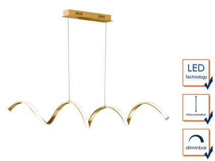 Höhenverstellbare LED Pendelleuchte Gold dimmbar 32W L. 102cm - Esstischlampen - Vorschau 4