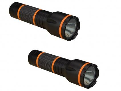 2Stk. helle Taschenlampen 3W LED, Leuchtweite 150m, wasserfest stoßfest Outdoor
