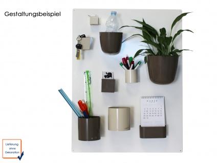Kunststofftopf mit Magnet Ø 10 cm, Braun, Wandaufbewahrung Wanddeko, KalaMitica - Vorschau 3