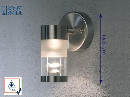 Konstsmide Außenwandleuchte BOLZANO dimmbar, Edelstahl Fassadenbeleuchtung IP44