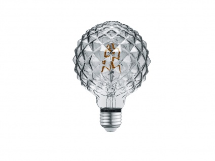 Retro Stil LED Leuchtmittel mit E27 Sockel, 4 Watt in Warmweiß, Glas rauchfarbig