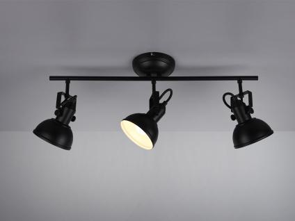 Deckenstrahler 3 flammig im Retro Look aus Metall in Schwarz dreh-und schwenkbar