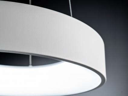 Runde LED Pendelleuchte Lampenschirm weiß - Hängeleuchte für den Esstisch Lampen - Vorschau 5