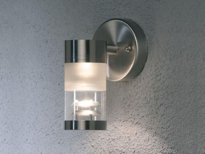 Konstsmide Außenwandleuchte Wandlampe SORRENTO Edelstahl Laterne außen IP44