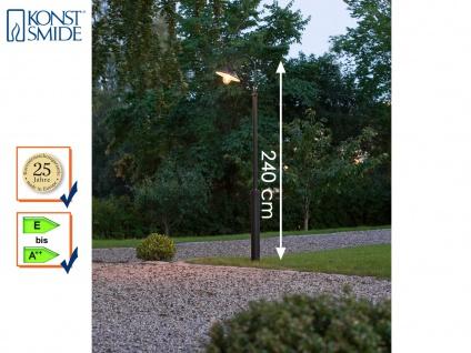 Mastleuchte Straßenlaterne 240cm schwarz, Laterne Garten Wegeleuchte Konstsmide