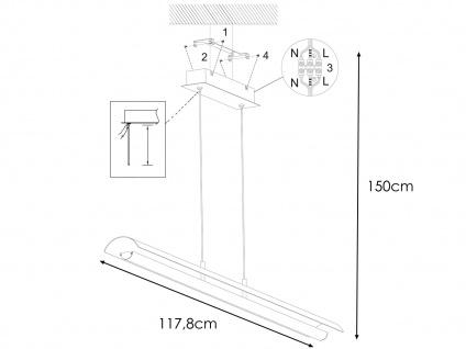 Design LED Pendelleuchte Antik Braun/Messing gefärbt höhenverstellbar - Esstisch - Vorschau 4