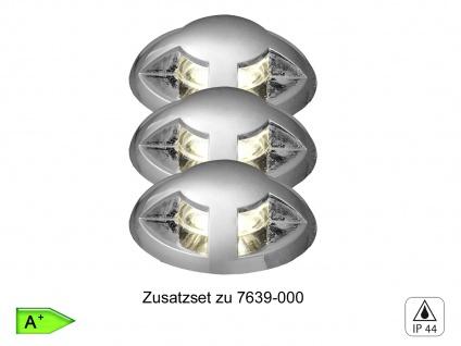 3tlg. Mini LED Bodeneinbauleuchten Spots Ø 3, 5cm, IP44, Erweiterungsset