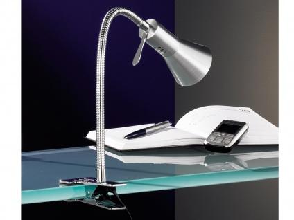 Tischleuchte, verstellbar, Chrom, aluminium, Honsel-Leuchten, CLEVELAND
