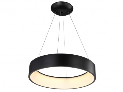 Runde LED Pendelleuchte Metallschirm schwarz - Hängeleuchten für den Esstisch