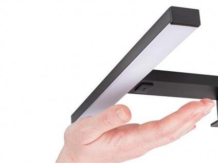 LED Spiegelleuchten 2er SET fürs Badezimmer mit Bewegungsmelder, Metall schwarz - Vorschau 2