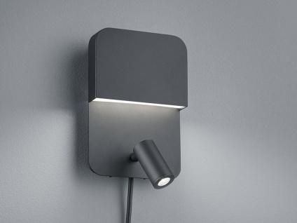LED Innenleuchte - Wandlampe mit Schalter, getrennt schaltbar, matt schwarz, A+