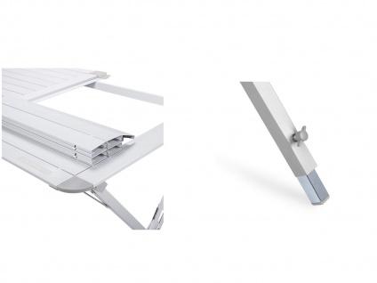 SET mit: Campingtisch und 2er klappbare Campingstühle - stabiler ALU Rolltisch - Vorschau 5