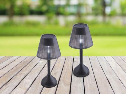 LED Solarbeleuchtung, 2er SET Solarlampen Tischdeko für den Garten & Balkon IP44
