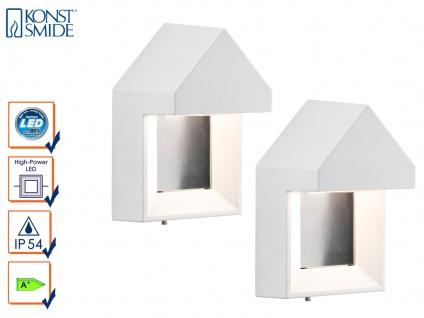 2er-Set edle Wandleuchten COSENZA, weiß, 5 Watt LED, 400 Lumen, IP54