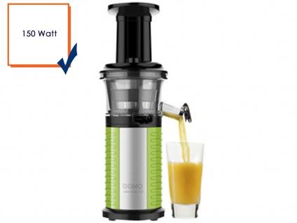 Entsafter, Saftpresse, Obstpresse, Slow Juicer, 150 Watt, Domo