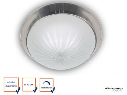 LED Deckenleuchte rund Schliffglas satiniert Nickel matt Ø40cm LED Küchenleuchte