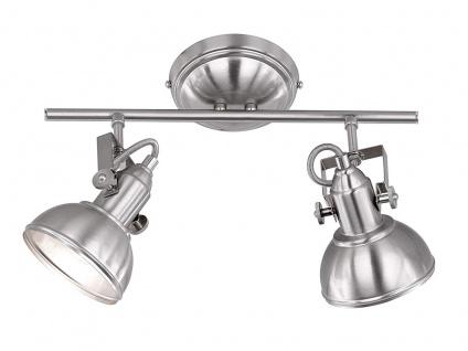 LED Deckenspot im Retro Look aus Metall in Nickel dreh + schwenkbar Wandstrahler
