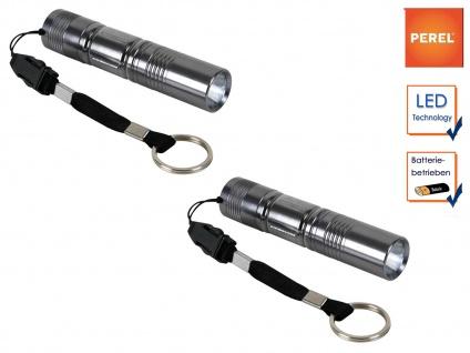 2er Set LED Taschenlampen ultra bright mit Schlüsselanhänger und Handschlaufe