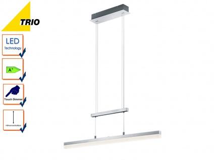 LED Pendelleuchte, Hängelampe höhenverstellbar, dimmbar, Alu / Acrylglas, Trio