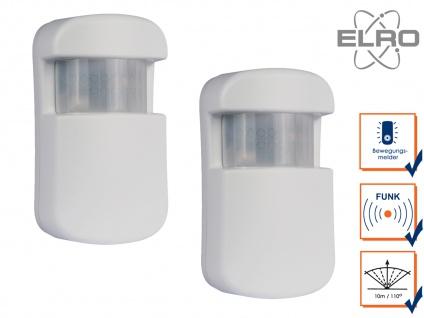 2x Bewegungsmelder 10m / 110° Smart Home ELRO AG4000 Alarmsystem App gesteuert