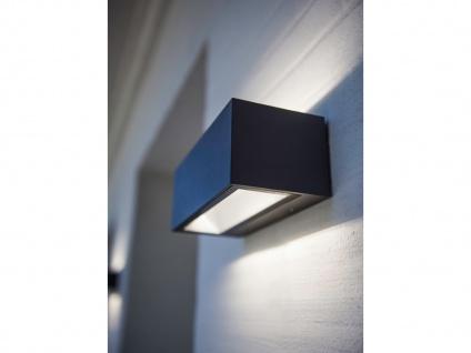 Hochwertige LED Außenwandleuchte ALU Anthrazit Up and Down Strahler groß & eckig