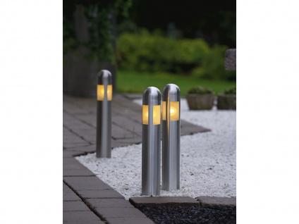 LED Außenleuchten IP44 mit Erdspieß, 35cm - Gartenlampen Außenbereich Edelstahl