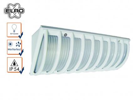 Weiße Elro Wandleuchte Außenlampe mit Schutzgitter, Außenleuchte Eckmontage