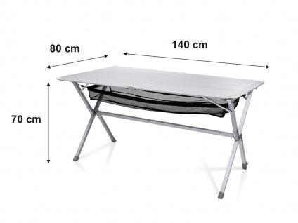 Campingmöbel mit ALU Campingtisch Rolltisch und 4er SET Campingsstühle klappbar - Vorschau 5
