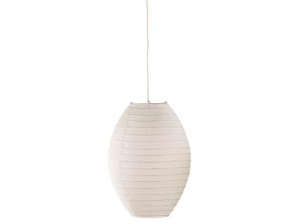 Pendelllampe Japan-Kugel aus Papier, oval Ø 40cm, Lampion weiß mit dimmbare LED