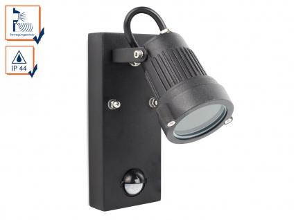Downlight Außenwandleuchte mit Bewegungssensor, GU10-Sockel, 90° x 8 Meter