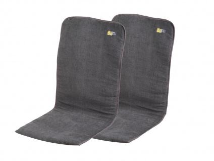 2er-Set Gepolsterte Sitzauflage Sitzkissen Bezug Anthrazit 125 x 54 x 1/2 cm