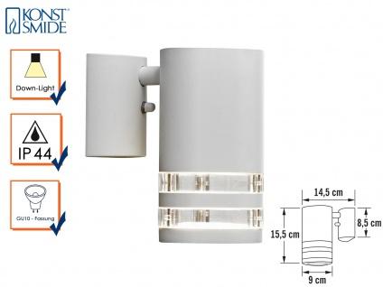 Wandleuchte MODENA Aluminium weiß, Downlight, GU10, Höhe 15, 5 cm IP44