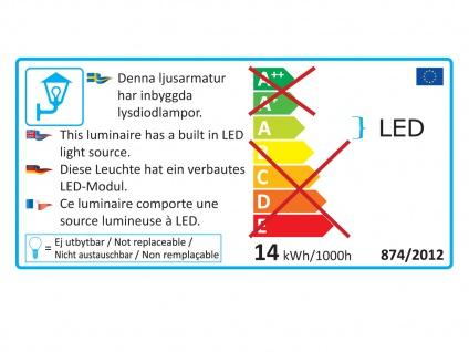 Eckige LED Außenleuchte Anthrazit Up & Down wählbar Hauswand Fassadenbeleuchtung - Vorschau 3