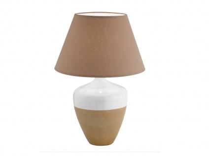 Tischlampe Tischleuchten Tischlampen DERBY Stoffschirm braun Honsel Leuchten - Vorschau 2