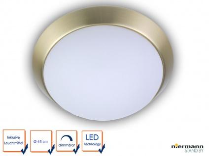 LED Deckenleuchte Küche Flurlampe rund Ø 45cm Büroleuchte Dielenbeleuchtung OPAL