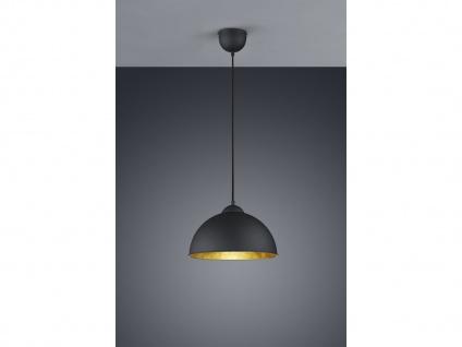 Retro LED Pendelleuchte Ø31cm in schwarz/gold Hängelampe für Esszimmer Flurlampe