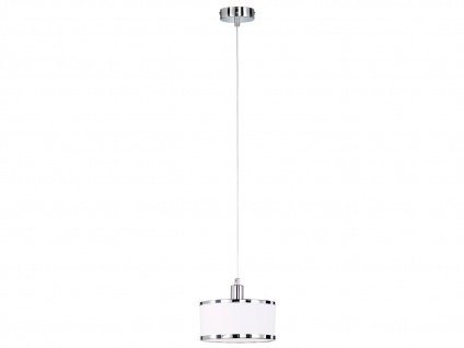 Pendelleuchte mit Stoffschirm Rund Weiß - Hängeleuchten für den Esstisch Lampen