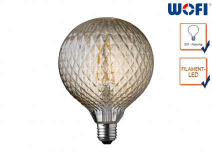 FILAMENT LED Leuchtmittel mit Netz-Struktur 4 Watt, 300 Lumen, 1800 Kelvin, E27