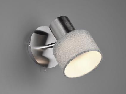 Design Wandstrahler runder Lampenschirm Stoff Spot schwenkbar - Wohnzimmerlampen