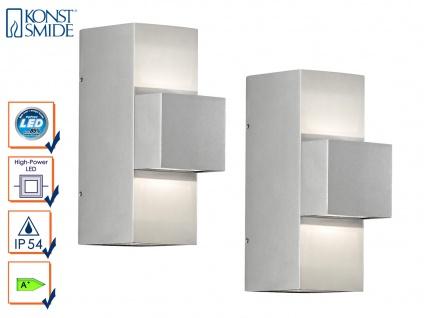 2er-Set graue Wandleuchten IMOLA Up/Down-light 9 Watt HP-LED IP54