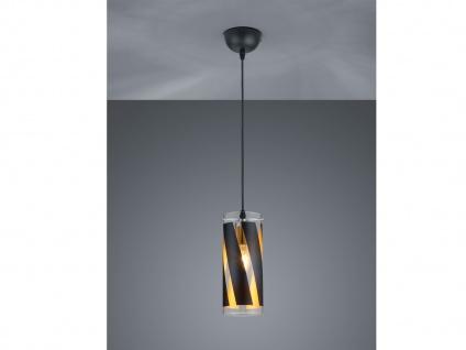 1 flammige LED Pendelleuchte Zylinderform aus Glas schwarz für Esszimmerlampe