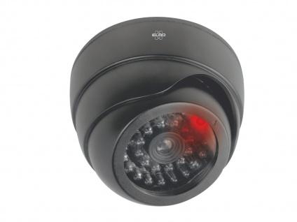 Dome Kamera Attrappe schwarz rote LED Blitzlicht - Fake Dummy Überwachungskamera - Vorschau 2