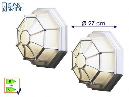 2x Konstsmide Außenleuchte Wandleuchte Deckenleuchte weiß, Fassadenbeleuchtung
